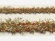 Brokatborte gold-rot Nr. 601-21-1, Breite ca. 17 mm