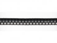 Häkelbesatz mit durchgezogenem Lacklederband, Breite 25 mm