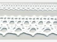 Klöppelspitze 75087_06000, Breite 19 mm, Farbe weiß