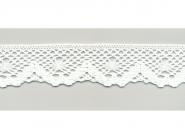 Klöppelspitze 75261_06000, Breite 40 mm, Farbe weiß