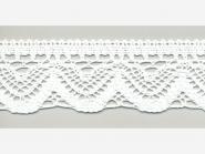 Klöppelspitze 75301_06000, Breite 58 mm, Farbe weiß