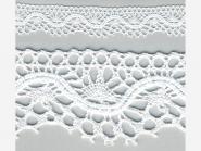 Klöppelspitze 75416_06000, Breite 27 mm, Farbe weiß