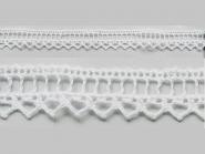 Klöppelspitze 75445, Breite 18 mm, Farbe weiß