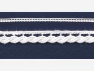 Klöppelspitze 75464_60000, Breite 6 mm, Farbe weiß