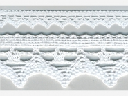 Klöppelspitze 82352_06000, Breite 21 mm, Farbe weiß