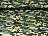 Army-Stoff Camouflage L911-34, Breite ca. 150 cm, Farbe 34 natur-grau-dunkeloliv-schwarz