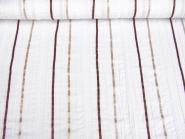 Baumwollstoff 80602 in weiß mit Satinbändern gold/kupfer, Breite ca. 135 cm