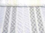 Baumwollstoff 80604 weiß mit 7 cm breiten Spitzenborten in creme, Breite ca. 140 cm