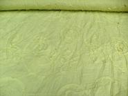 Baumwollstoff Crash SU1017-004, kiwifarben, mit aufgenähten Schleifen, Breite ca. 130 cm