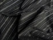 Baumwollstoff PO-092616 in schwarz mit goldenen Lurexstreifen, Breite ca. 150 cm