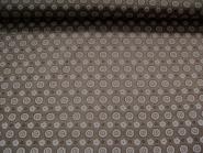 Baumwollstoff PO101020-53 mit Blumendruck, Farbe graubraun, Breite ca. 145 cm