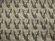 Baumwollstoff Stretch 473848 gemustert in sand-schwarz, Breite ca. 130 cm