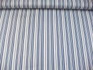 Baumwollstoff Stretch P091714 in weiß mit blauen Längsstreifen, Breite ca. 130 cm