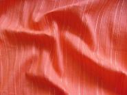 Baumwollstoff V3547 in orangerot mit silbernen Lurexstreifen, Breite ca. 140 cm