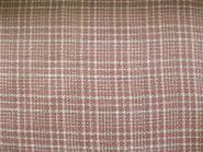 Feiner Bouclé-Stoff kariert 478163 in weiß-rosé, Breite ca. 150 cm