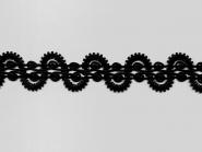 Brokatborte Nr. 9076 in schwarz aus Kunstseide, Breite ca. 36 mm