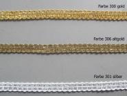 Brokatborte Nr. 8875 mit Lurex-Rundgarn, Breite ca. 14 mm