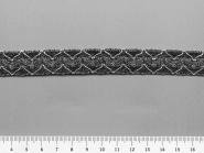 Brokatborte HP8949 Lurex silber-anthrazit, Breite ca. 12 mm