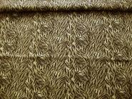 Stretch-Brokatstoff gemustert L12605 in beige-braun mit Silberglitter, Breite ca. 150 cm, Reststück 0,9 m