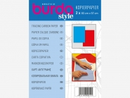 burda Kopierpapier Nr. 1100 blau/rot, je 1 Bogen in blau und rot, Bogengröße ca. 83 x 57 cm