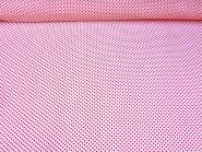 Chiffon 80204 in weiß mit kleinen roten Punkten, Breite ca. 150 cm