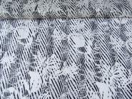 Chiffon-Ausbrenner 60920 mit glänzenden Streifen in silber-schwarz, Breite ca. 145 cm
