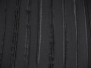 Chiffon Nr. TT21390 in schwarz mit aufgenähten Stoffstreifen, Breite ca. 0,95 m