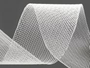 Crinoline Versteifungsband fest S750344-01, Breite ca. 5 cm, Farbe 01 weiß