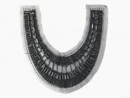 Dekolleté-Tülleinsatz NC0024 mit Stabperlen in schwarz, Breite ca. 30 cm, Höhe ca. 26 cm