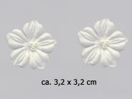 Dekorblume mit Glasperlen Nr. 91489c, Größe ca. 3,2 x 3,2 cm