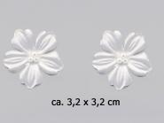 Dekorblume mit Glasperlen Nr. 91489w, Größe ca. 3,2 x 3,2 cm