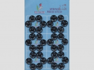 Druckknöpfe schwarz Nr. 383501sw, Größe 12 mm, Karte à 6 Knöpfe
