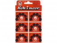 Druckknopf Koh-i-noor Metall schwarz Nr. 0586, Karte à 6 Knöpfe, Größe 2 (9 mm)