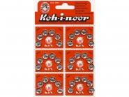 Druckknopf Koh-i-noor Metall Nr. 0613, Karte à 6 Knöpfe, Größe 2 (9 mm)