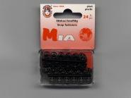 Druckknopf Koh-i-noor Plastik schwarz Nr. 1540, Dose à 24 Knöpfe, Größe 1/2 (7 mm)
