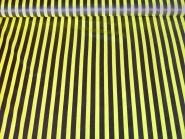 Faschingssatin CA1020-022 mit schwarzen und gelben Längsstreifen, Breite ca. 145 cm