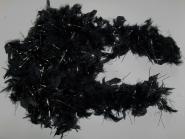 Edle Federboa 51527 in schwarz mit Silberfäden, Länge 180 cm
