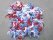Federboa dreifarbig 7417-01, Länge 180 cm, Farbe weiß-blau-rot
