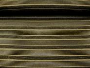 Feinstrick G68254 mit Quersteifen in schwarz und Lurex gold, Breite ca. 150 cm