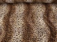Fell-Imitat Leopard L725-03, Breite ca. 140 cm, Farbe natur-braun