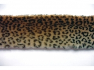 Pelzbesatz Nr. 50307 von beige nach braun verlaufend, Breite ca. 8 cm
