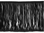 Fransenborte schwarz 8547-15