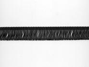Fransenborte schwarz 8547