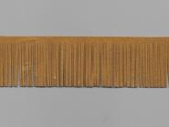 Fransenborte Wildleder-Imitat 38092-5c, Breite ca. 5 cm, Farbe camel