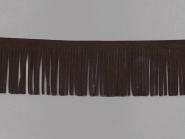 Fransenborte Wildleder-Imitat 38092-5m, Breite ca. 5 cm, Farbe mokka