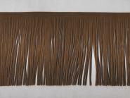 Fransenborte Wildleder-Imitat 510478-15c, Breite ca. 15 cm, Farbe braun
