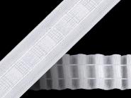 Gardinenband mit Bleistftfalten in weiß Nr. 610095, Breite ca. 25 mm