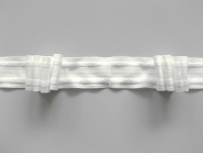 Gardinenband - Faltenband 4-Falten Nr. 10014 in weiß, Breite ca. 25 mm