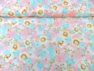 Georgette 801101 in pastellrosa mit Blumendruck, Breite ca. 145 cm