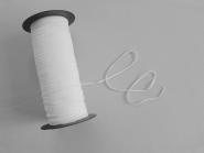 300 m Rolle Gummiband weiß Nr. 9501836-3w, Breite ca. 3 mm